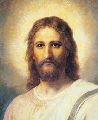 Portrait Of Jesus Christ Art Print by Heinrich Hofmann