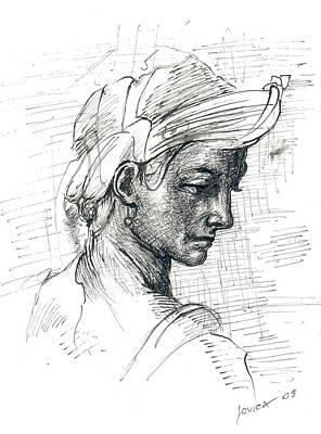 Portrait Art Print by Jovica Kostic