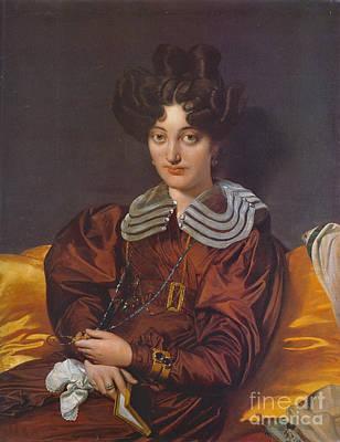 Photograph - Portrait Madame Marcotte 1826 by Padre Art