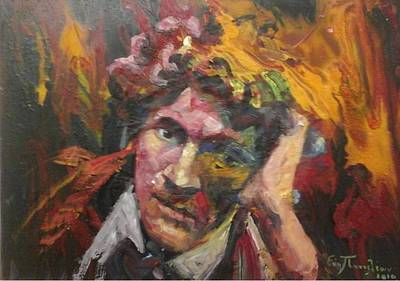 Portrait Marc Chagall 1887-1985 Original by Evi Panteleon