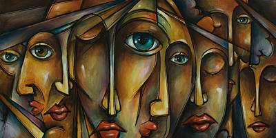 Earth Tones Painting - Portrait by Michael Lang