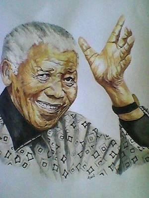 portrait Nelson Mandela Original