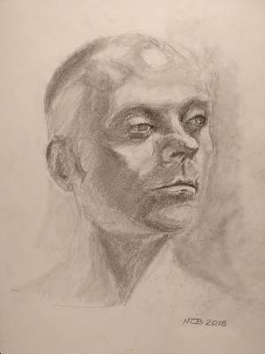 Drawing - Portrait by Nicolas Bouteneff