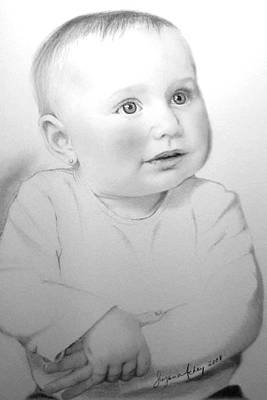 Drawing - Portrait Of A Baby by Suzana Mestric