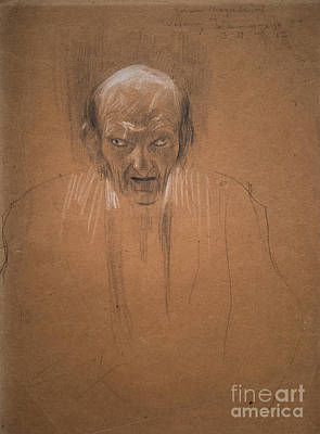Drawing - Portrait Of A Bald Old Man by Gustav Klimt