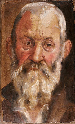 Painting - Portrait Of A Bearded Man by Annibale Carracci