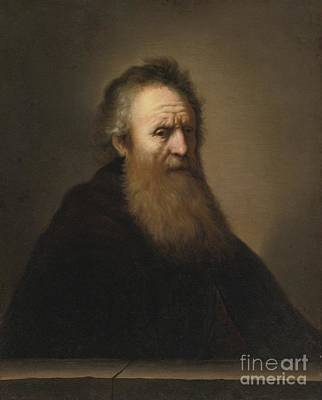 Rembrandt Harmensz Van Rijn Painting - Portrait Of A Bearded Man by Celestial Images