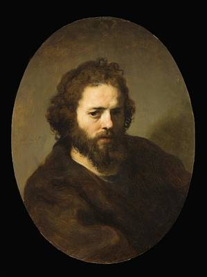 Portrait Of A Bearded Man Art Print