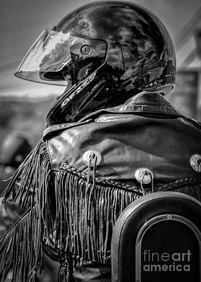 Photograph - Portrait Of A Biker by Kathleen K Parker