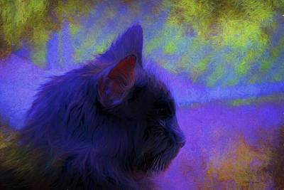Painting - Portrait Of A Black Cat 138a - Painting by Ericamaxine Price