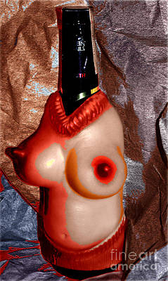 Humor Photograph - Portrait Of A Bottle Wearing Nude Kitsch by Steven  Digman