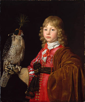 Portrait Of A Boy A With A Falcon Art Print