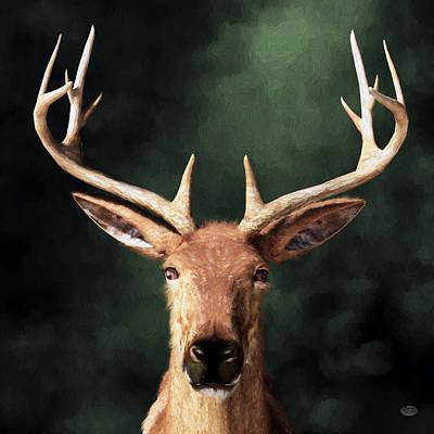 Digital Art - Portrait Of A Buck by Daniel Eskridge