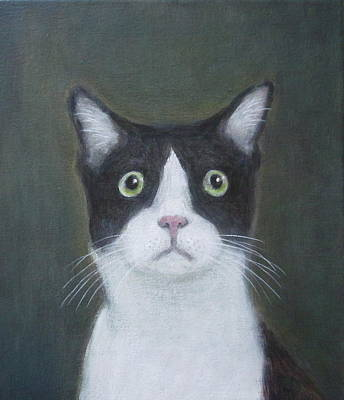 Painting - Portrait Of A Cat by Kazumi Whitemoon