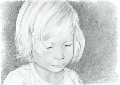 Portrait Of A Child 2 Art Print by Bitten Kari