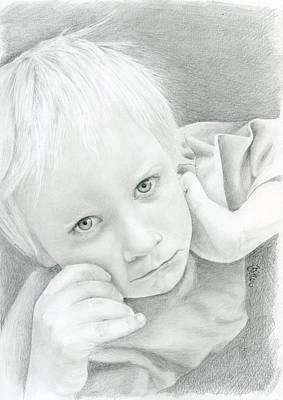 Portrait Of A Child Art Print by Bitten Kari