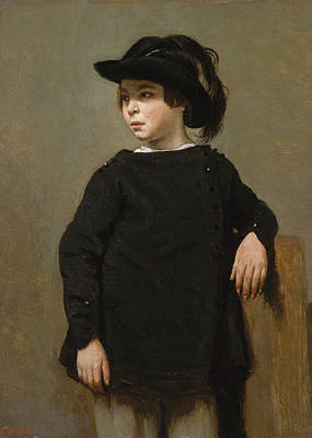 Teenager Painting - Portrait Of A Child by Camille Corot