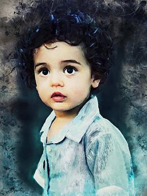 Digital Art - Portrait Of A Child by Kai Saarto