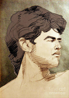 Painting - Portrait Of A Classic Young Man by Greta Corens