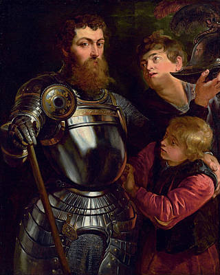 Peter Painting - Portrait Of A Commander, Three-quarter-length, Being Dressed For Battle  by Peter Paul Rubens