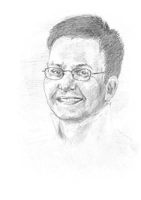 Musicians Drawings - Portrait of a Composer by Masha Batkova