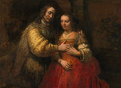 Portrait Of A Couple As Figures From The Old Testament Art Print