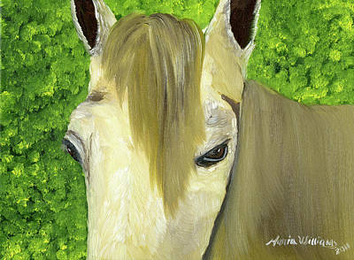 Painting - Portrait Of A Curious Horse by Maria Williams