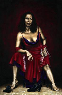 Portraits Royalty-Free and Rights-Managed Images - Portrait of a Dancer by Richard Young
