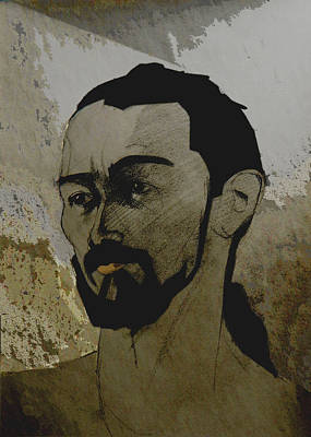 Painting - Portrait Of A Dark Bearded Man by Greta Corens