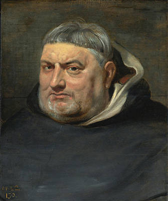Painting - Portrait Of A Dominican Friar by Studio of Peter Paul Rubens