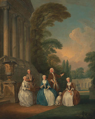Painting - Portrait Of A Family by Joseph Francis Nollekens