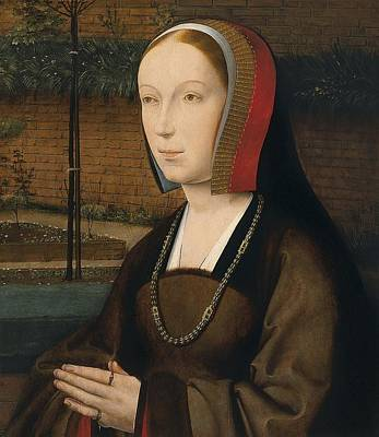 1505 Painting - Portrait Of A Female Donor Ca. 1505 By Jan Provost by Celestial Images