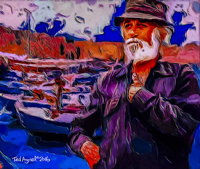 Painting - Portrait Of A Fisherman by Ted Azriel