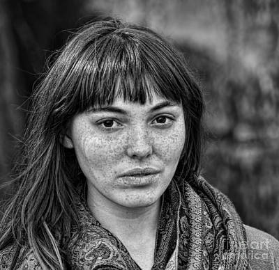 Photograph - Portrait Of A  Freckle Faced Model II by Jim Fitzpatrick