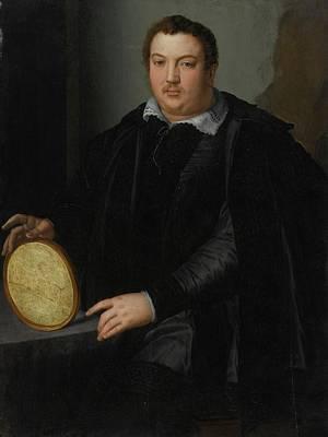 Portrait Of A Gentleman Art Print by Alessandro Allori