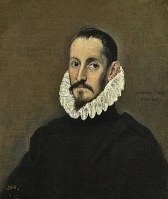 Greek Painting - Portrait Of A Gentleman by El Greco