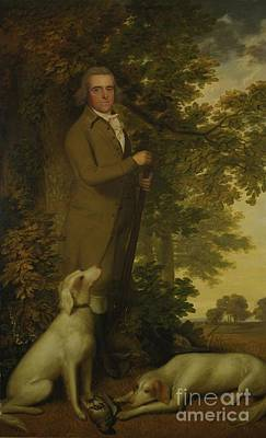 Dog In Landscape Painting - Portrait Of A Gentleman by MotionAge Designs