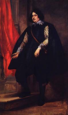 Digital Art - Portrait Of A Gentleman  by Sir Antony van Dyck