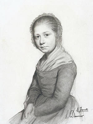 Portrait Of A Girl Art Print by Honore Daumier