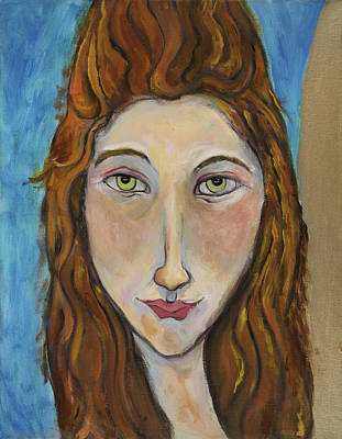 Art Print featuring the painting Portrait Of A Girl by Michelle Spiziri