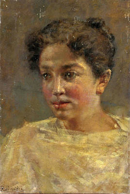 Painting - Portrait Of A Girl by Pio Sanquirico
