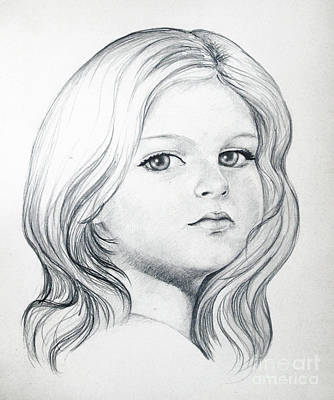 Portrait Of A Girl Art Print by Stoyanka Ivanova