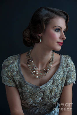 Photograph - Portrait Of A Glamorous 1930s Socialite  by Lee Avison