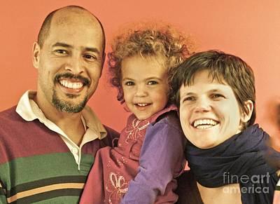 Portrait Of A Happy Family Art Print by Blair Seitz