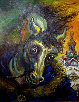 Roussimoff Wall Art - Painting - Portrait Of A Horse by Ari Roussimoff