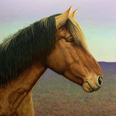 Portrait Of A Horse Art Print by James W Johnson