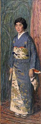 Aman-jean Painting - Portrait Of A Japanese Woman. Mrs Kuroki by Edmond Aman-Jean