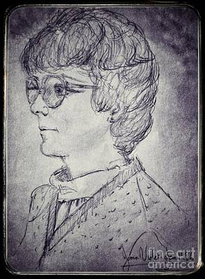 Drawing - Portrait Of A Lady 2 by Joan-Violet Stretch