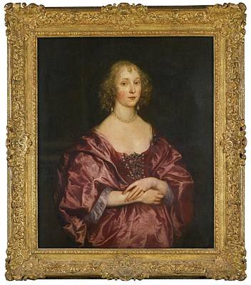 Portrait Of A Lady Art Print by MotionAge Designs