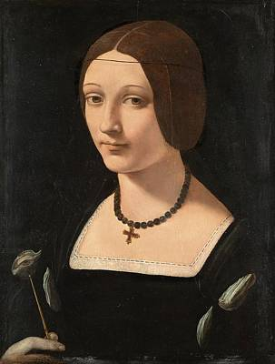 Portrait Painting - Portrait Of A Lady As Saint Lucy Ca. 1509 By Giovanni Antonio Boltraffio by Celestial Images